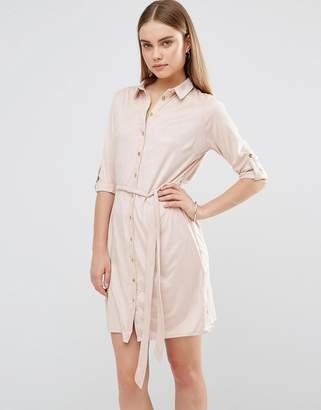 AX Paris Suedette Shirt Dress $37 thestylecure.com