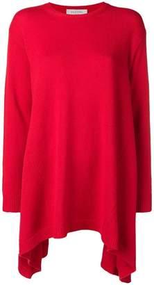 Valentino asymmetric cashmere jumper