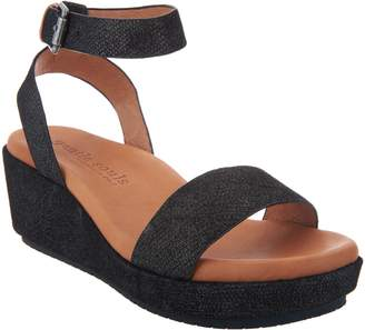 Kenneth Cole Gentle Souls By Gentle Souls Leather Ankle Strap Wedges - Morrie