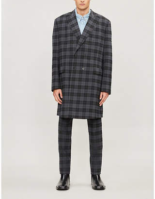 Balenciaga Double-breasted checked woven jacket