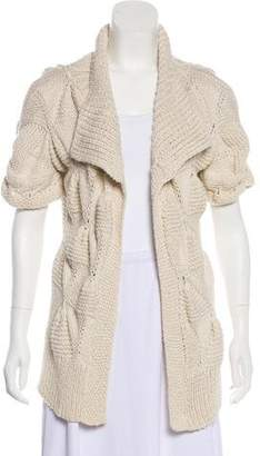 Stella McCartney Short Sleeve Open Front Cardigan