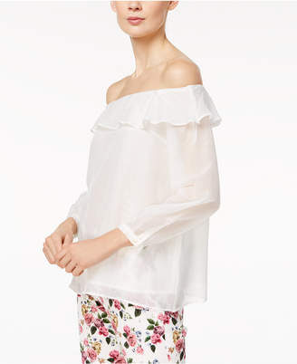 Marella Silk Blend Ruffled Off-The-Shoulder Top