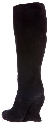 Bottega VenetaBottega Veneta Suede Wedge Boots
