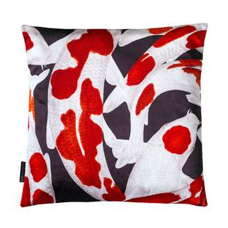 Arlette Ess Koi I Style 3 Red & White Velvet Cushion