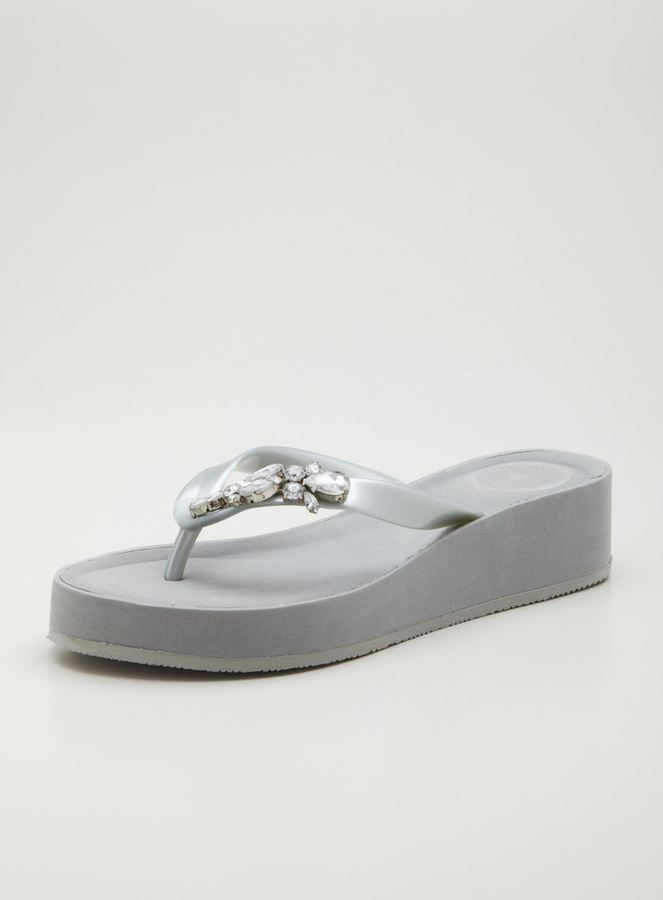 BCBGMAXAZRIA BCBGeneration Bg-Fifi Jelly Thong Sandal With Jewels