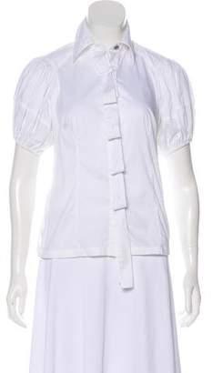 Robert Rodriguez Short Sleeve Button-Up Blouse