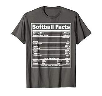 Softball T-shirt - Softball Facts Shirt