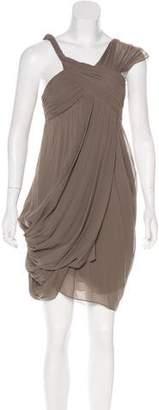 Derek Lam Silk One-Shoulder Draped Dress w/ Tags