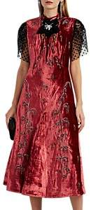 Erdem Women's Pembroke Embellished Velvet Dress - Pink