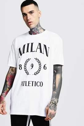 Oversized Milan Print T-Shirt