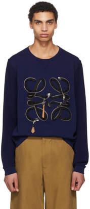 Loewe Indigo Zip Anagram Sweatshirt