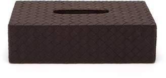 Bottega Veneta Intrecciato Leather Tissue Box - Dark Brown