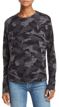 Aqua Camo Crewneck Cashmere Sweater - 100% Exclusive