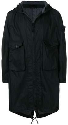 Stone Island Ghost hooded raincoat