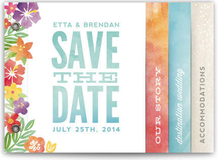 Tropical Date Save The Date Minibooks