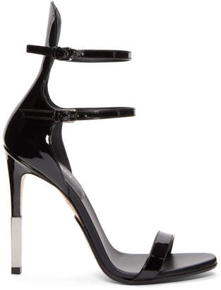 Balmain Black Patent Elvira Sandals