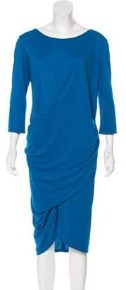 Robert Rodriguez Long-Sleeve Midi Dress