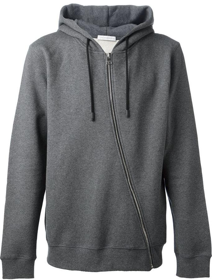 J.W. Anderson asymmetric zip hoodie