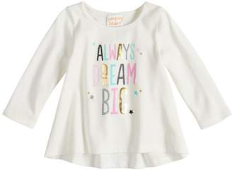 Osh Kosh Baby Girl Jumping Beans Shirred-Back Graphic Top