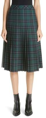 Sandy Liang Pleated Plaid Uniform Skirt