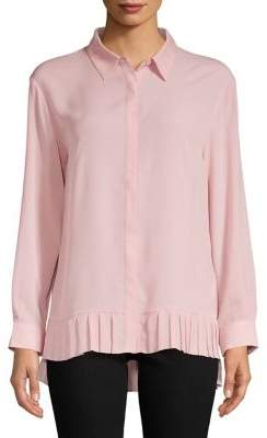 French Connection Pleated Crepe Blouse