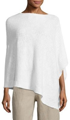 Eileen Fisher Organic Linen & Cotton Poncho $118 thestylecure.com