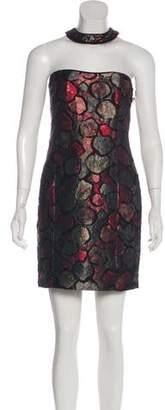 Timo Weiland Metallic Natalie Halter Dress