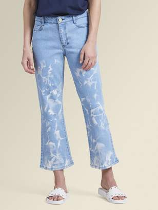 DKNY Cropped Kick Flare Denim