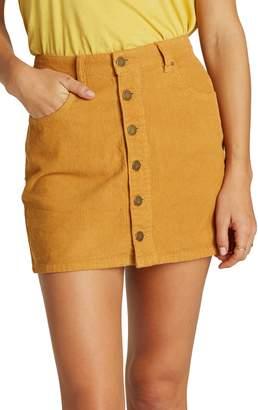 Billabong Good Life Corduroy Miniskirt
