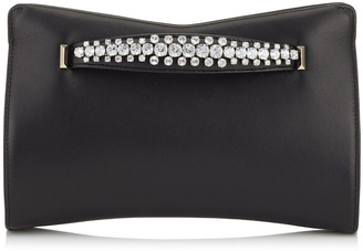 Jimmy Choo VENUS Black Nappa Leather Clutch Bag