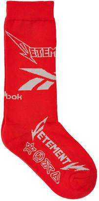 Vetements X Reebok Printed Socks with Cotton