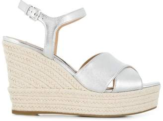 Sergio Rossi metallic wedge sandals