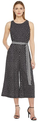 Christin Michaels - Constance Sleeveless Polka-Dot Jumpsuit Women's Jumpsuit & Rompers One Piece $98 thestylecure.com