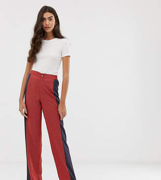 Brave Soul Tall wide leg trousers in mix print
