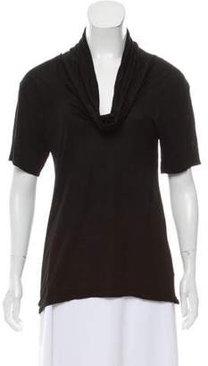 James Perse Short Sleeve Cowl Neck Top