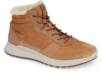 Ecco ST1 Genuine Shearling High Top Sneaker