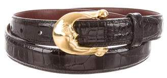 Kieselstein-Cord Alligator Buckle Belt