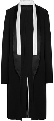 Haider Ackermann - Satin-trimmed Crepe Coat - Black $2,870 thestylecure.com
