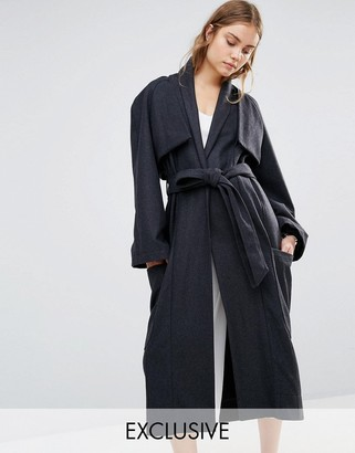 House of Sunny House Of Sunny Luxe Casual Trench Coat $226 thestylecure.com