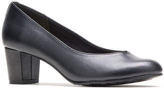 Hush Puppies Womens Gracee Pumps Slip-on Round Toe Block Heel