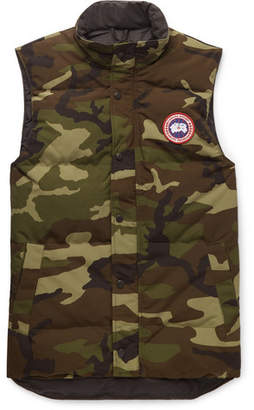 Canada Goose Garson Slim-Fit Camouflage-Print Quilted Shell Down Gilet - Green