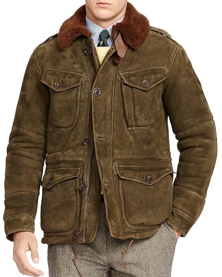 Polo Ralph LaurenPolo Ralph Lauren Shearling Suede Combat Jacket