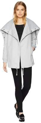 Blank NYC Big Collar Grey Sweater in Salt and Pepper Women's Sweater