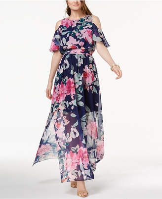 INC International Concepts I.n.c. Cold-Shoulder Maxi Dress, Created for Macy's