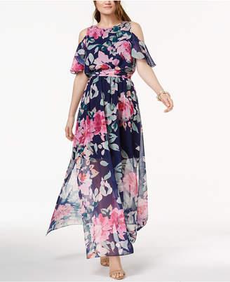 INC International Concepts I.n.c. Cold-Shoulder Maxi Dress