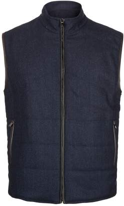 Corneliani Reversible Wool Suede Gilet