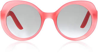 Lapima Carlota Oversized Round-Frame Sunglasses