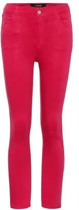 J Brand Alana high-waisted coated jeans