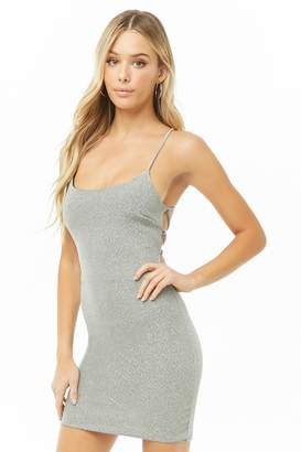 Forever 21 Metallic Lace-Up Mini Dress