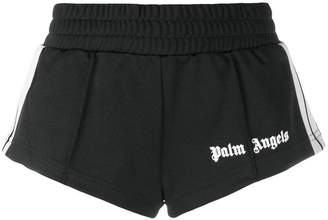 Palm Angels logo skinny-fit shorts